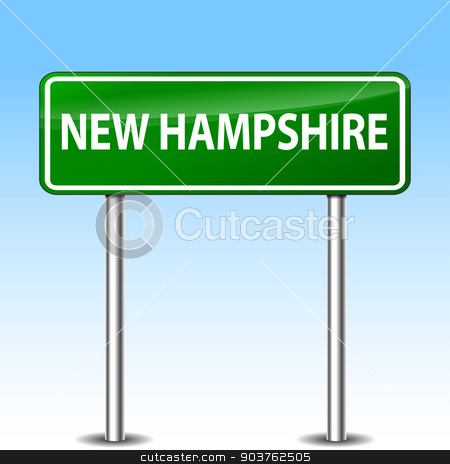 new hampshire green sign stock vector clipart, illustration of new hampshire green metal road sign by Nickylarson974