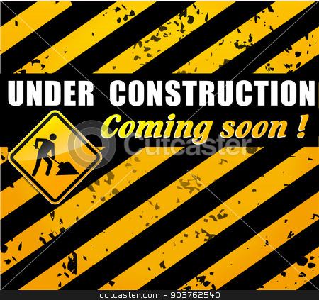 site under construction concept stock vector clipart, illustration of site under construction concept background by Nickylarson974