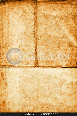 old rough paper background stock photo, old brown paper background with space for text or image by Suchota