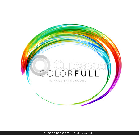 Colorful circle vector illustration stock photo, Colorful circle vector illustration isolated on white background by sermax55