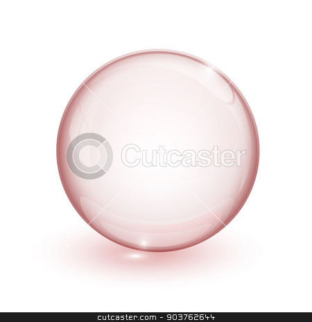 Red bubble 3d  stock vector clipart, Red bubble 3d on white background by mizar_21984