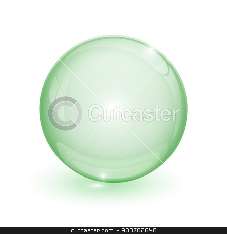 Green bubble 3d  stock vector clipart, Green bubble 3d on white background by mizar_21984