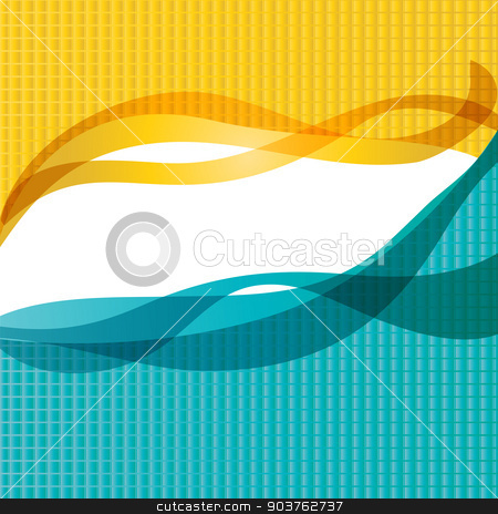 Background of the waves stock vector clipart, vector illustration in the background of the waves by Serebrov