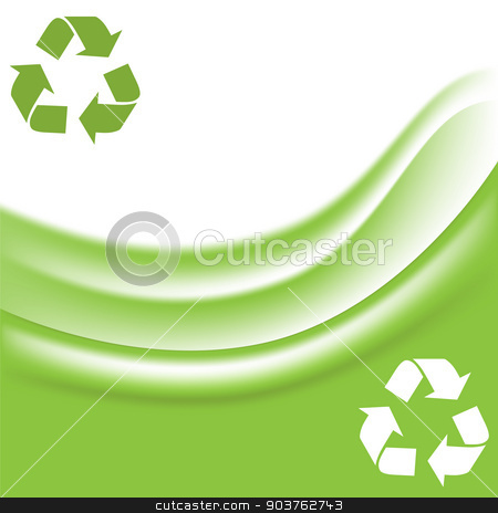three arrows sign stock vector clipart, vector illustration of three arrows sign in the form of a triangle - a sign of recyclable materials , which symbolizes the closed cycle : creation, use , disposal . by Serebrov