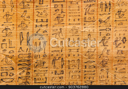 Book of the Dead stock photo, Detail of ancient Book of the Dead (1070 BC), Thebes - Egypt by Paolo Gallo