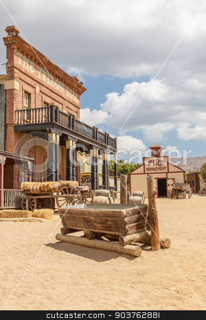 Far West stock photo, Detail of an old Far West village by Paolo Gallo