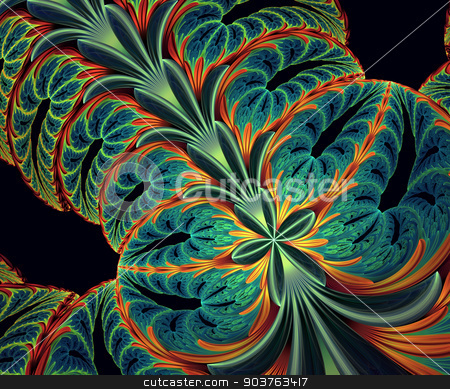 Computer generated fractal artwork stock photo, Computer generated fractal artwork for creative art,design and entertainment by Maria Repkova