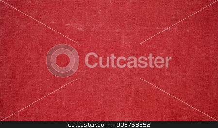 old red fabric background stock photo, old canvas background with space for text or image by Suchota
