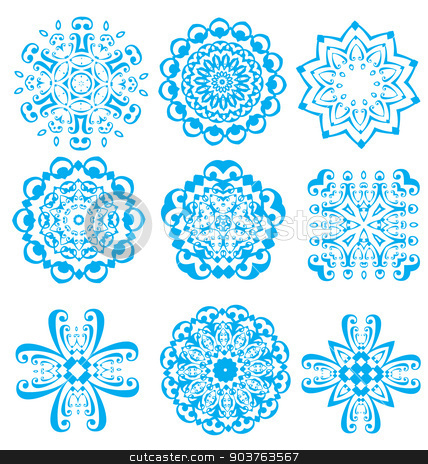 Nice abstract flower elements stock vector clipart, Nice abstract flower elements for creative design work by Maria Repkova