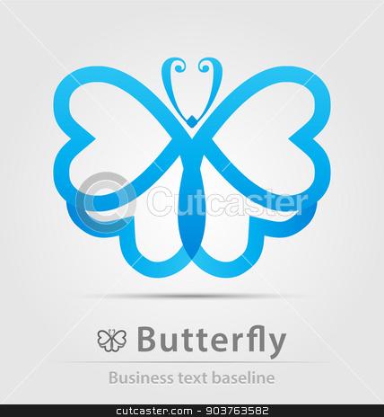 Butterfly business icon stock vector clipart, Butterfly business icon for creative design work by Maria Repkova