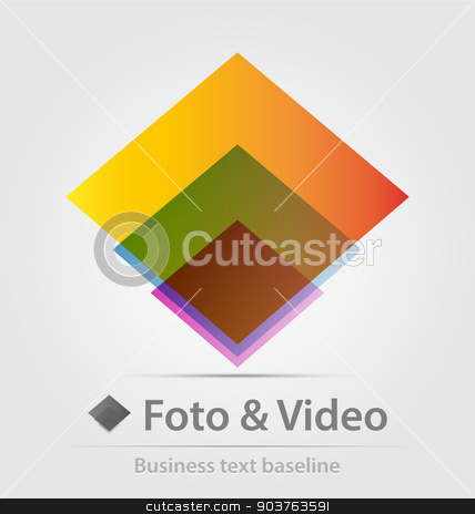 Foto and video business icon stock vector clipart, Foto and video business icon for creative design work by Maria Repkova