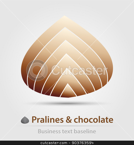 Pralines and chocolate business icon stock vector clipart, Pralines and chocolate business icon for creative design work by Maria Repkova