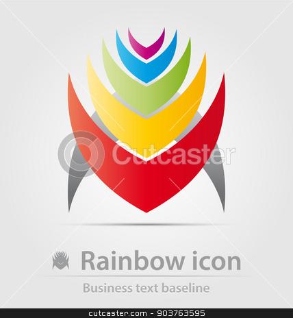 Rainbow business icon stock vector clipart, Rainbow business icon for creative design work by Maria Repkova