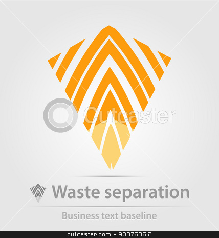 Waste separation business icon stock vector clipart, Waste separation business icon for creative design by Maria Repkova