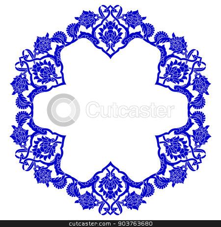 artistic ottoman pattern series fifty four stock vector clipart, Ornament and design Ottoman decorative arts by Sevgi Dal