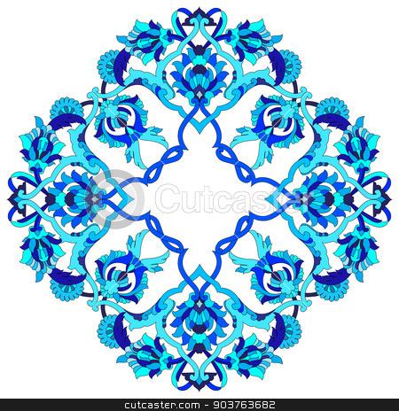 artistic ottoman pattern series fifty three stock vector clipart, Ornament and design Ottoman decorative arts by Sevgi Dal