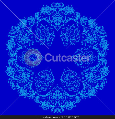 lines artistic ottoman pattern series fifty four version stock vector clipart, Ornament and design Ottoman decorative arts by Sevgi Dal