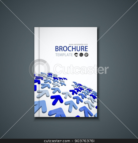 Vector flyer or banner. Brochure template stock vector clipart, Vector flyer or banner. Brochure template design by petr zaika
