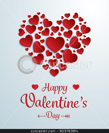 valentines day card stock vector clipart, valentines day card by kaisorn