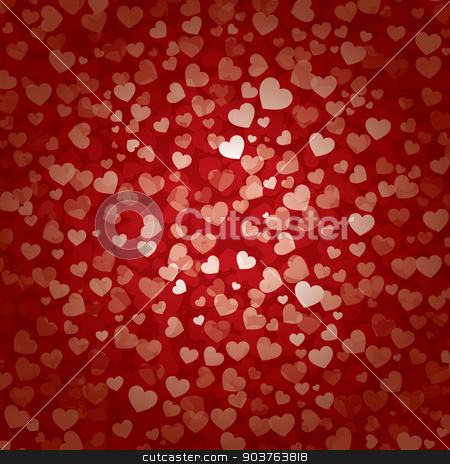 valentines day heart background stock vector clipart, valentines day heart background by kaisorn