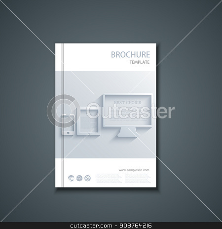 Vector flyer or banner. Brochure template stock vector clipart, Vector flyer or banner. Brochure template design by petr zaika