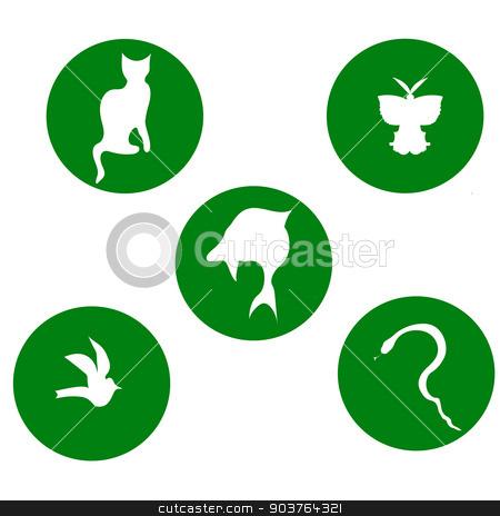 nature stock photo, nature emblems - on a green background by Svetlana Romanova