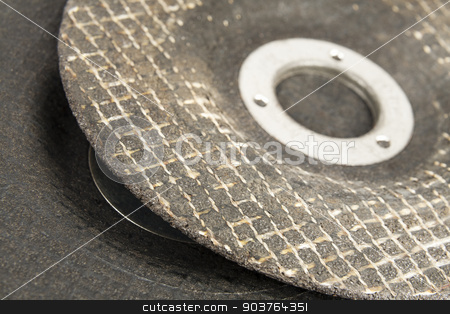 Grinding disc stock photo, Two discs for grinding and cutting various hard materials by marekusz