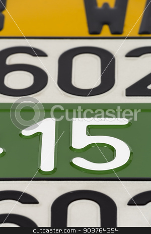 License plates  stock photo, European license plates in various colors by marekusz