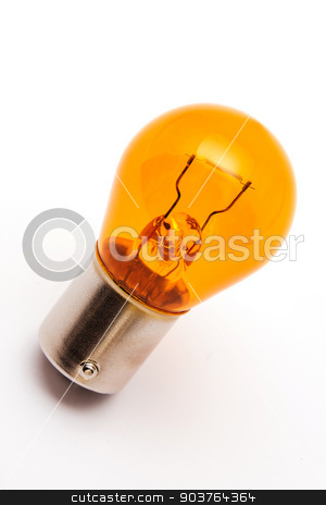 Orange light bulb stock photo, The orange car bulb used for indicator lamps in case install the transparent covers by marekusz