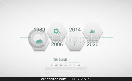 Vector modern timeline infographic stock vector clipart, Vector modern timeline infographic. Business development. Eps10 by petr zaika