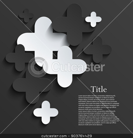 Vector modern pus or cross background template stock vector clipart, Vector modern pus or cross background template. Eps10 by petr zaika