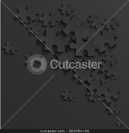 Vector modern black puzzle background stock vector clipart, Vector modern black puzzle background. Eps 10 by petr zaika