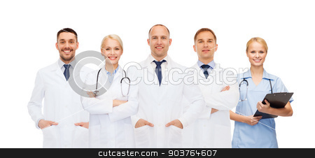 group of doctors with stethoscopes and clipboard stock photo, healthcare, people and medicine concept - group of doctors with stethoscopes and clipboard by Syda Productions