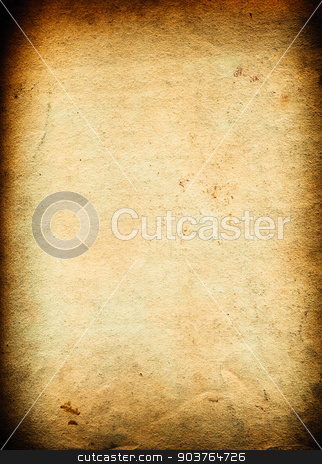 old rough paper background stock photo, very old brown paper background with space for text or image by Suchota