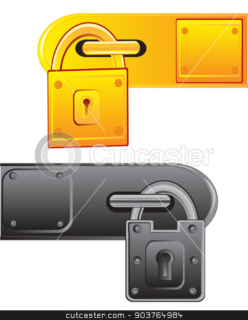 Outboard lock stock vector clipart, Vector illustration of the outboard lock on white background by cobol1964
