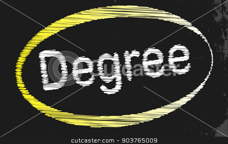 Degree Blackboard stock vector clipart, A blackboard with a chalk word Degree by Kotto