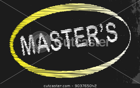 Masters Blackboard stock vector clipart, A blackboard with a chalk word Masters by Kotto