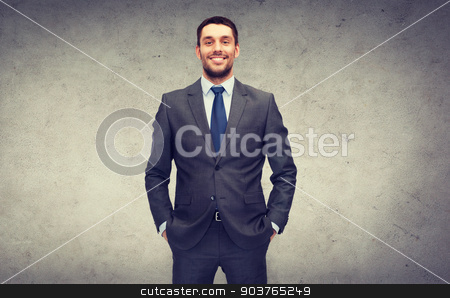 handsome buisnessman stock photo, business and office concept - handsome buisnessman by Syda Productions