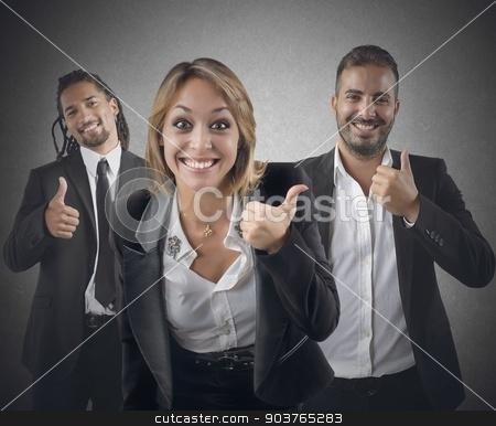 Entrepreneurs optimistic stock photo, Entrepreneurs optimistic smile for their beautiful career by Federico Caputo