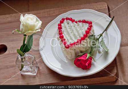 A sweet Valentine stock photo, A heart of sweetness and roses , the symbol of our love by Piermichele Malucchi