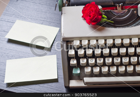 Love Letters stock photo, An old typewriter that only writes love letters by Piermichele Malucchi