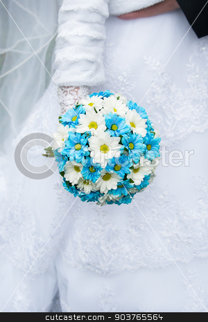 Wedding bouquet in hands of the bride stock photo, Wedding bouquet in hands of the bride. by Sergiy Artsaba