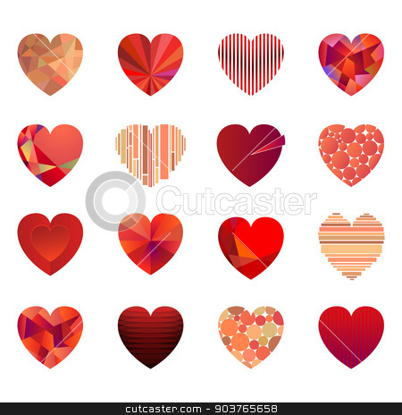 Vector hearts. stock vector clipart, Vector hearts set for wedding and valentine design  by Firin