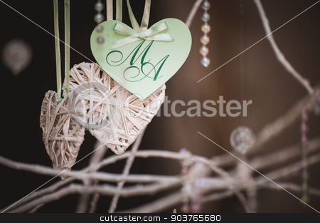 hand made heart shaped card with letters M and A stock photo, hand made heart shaped card with letters M and A by Maksym Fesenko