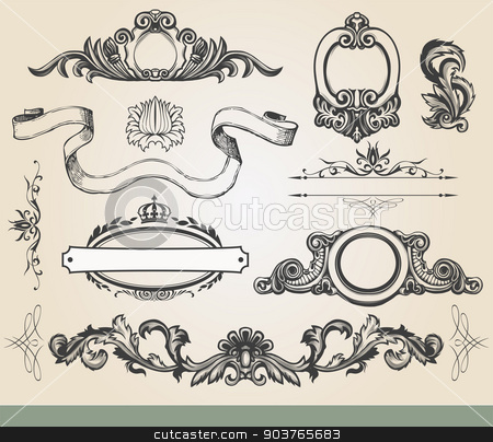 Vintage ornate shield  stock vector clipart, Vintage luxury decorative ornate shield, page decoration. by Firin
