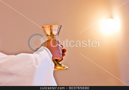 Eucharist of our Lord Jesus Christ stock photo, The consecration of the body and blood of Christ in the Christian liturgy by Piermichele Malucchi