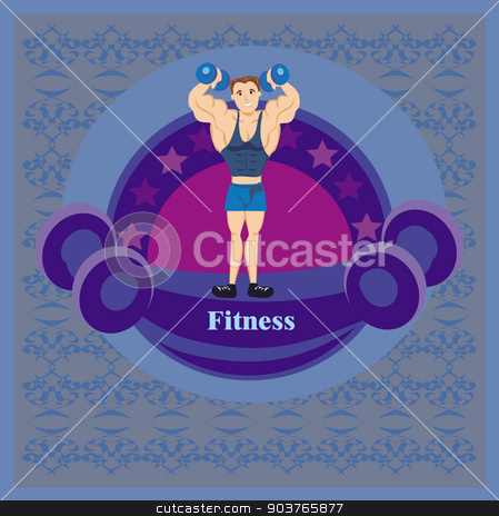 Gym label stock vector clipart, Gym label by Jacky Brown