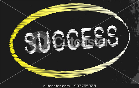 Success Blackboard stock vector clipart, A blackboard with a chalk word success by Kotto