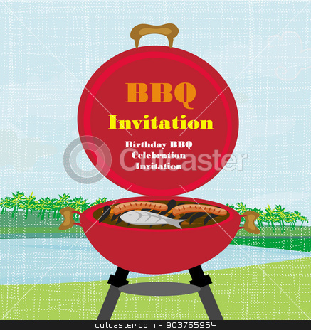 Barbecue Party Invitation  stock vector clipart, Barbecue Party Invitation  by Jacky Brown