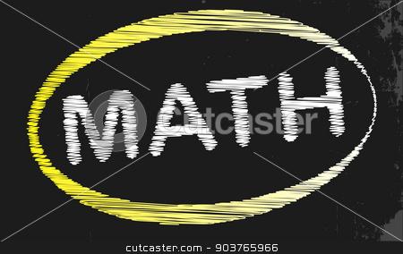 Math Blackboard stock vector clipart, A blackboard with a chalk word Math by Kotto